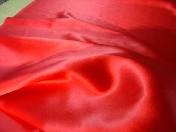 Cherry silk satin